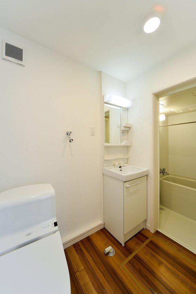 前回施工例:賃貸部分洗面所